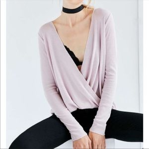 UO Project Social T Pink Wrap Thermal